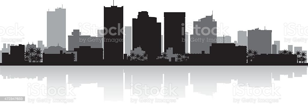 Phoenix City skyline silhouette vector art illustration
