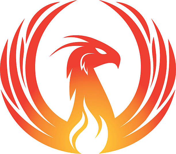 phoenix-design - vogel tattoos stock-grafiken, -clipart, -cartoons und -symbole