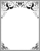 Ornate frame with phoenix.