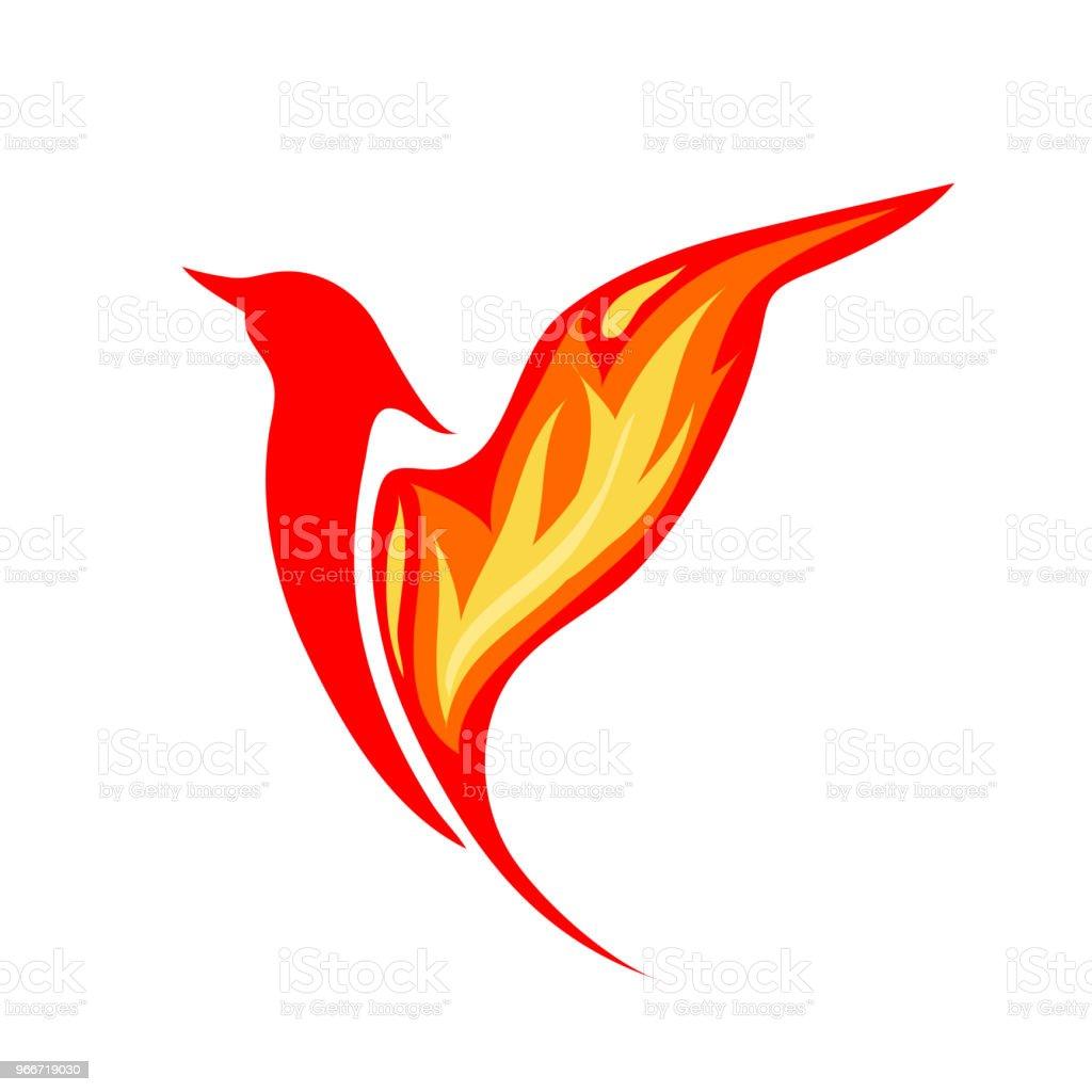 Phoenix Logo Bird Emblem Fire Symbol Stock Vector Art More Images