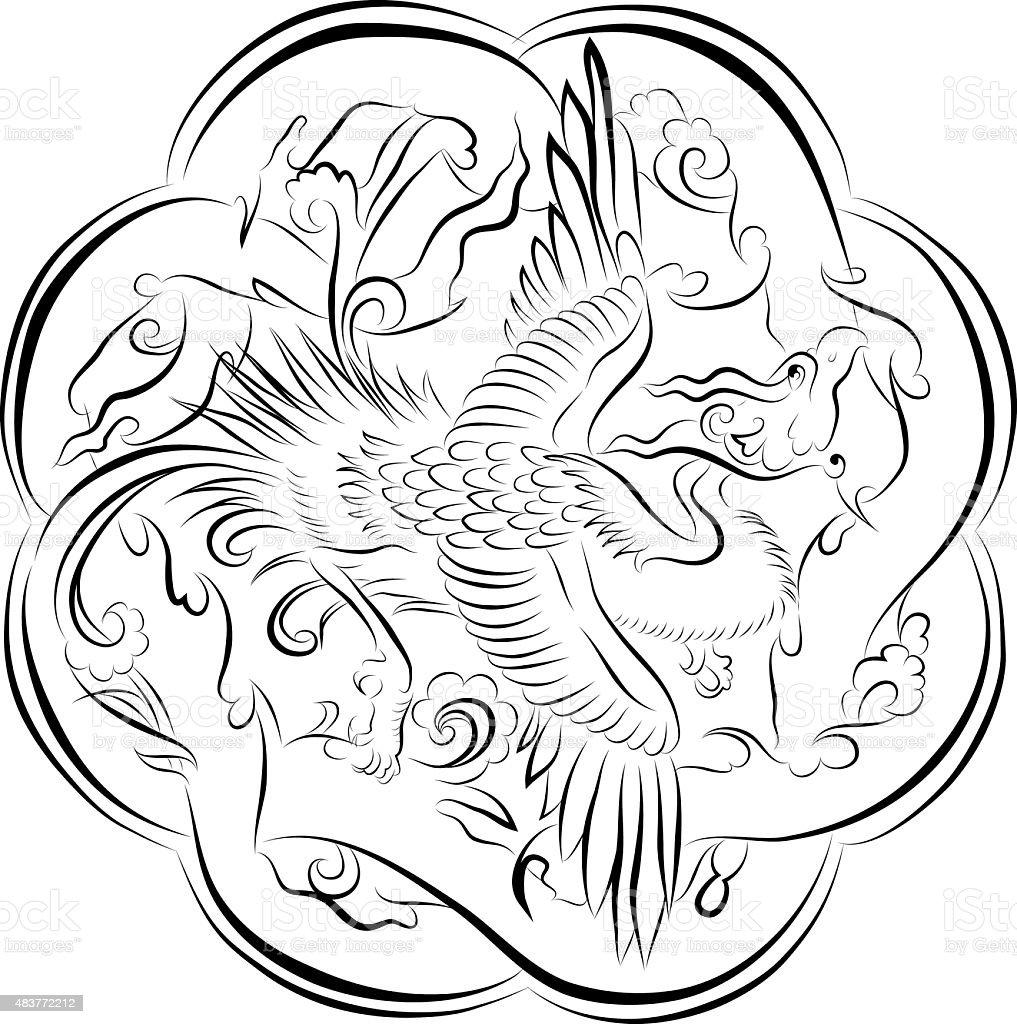 phoenix motif stock vector art 483772212 istock