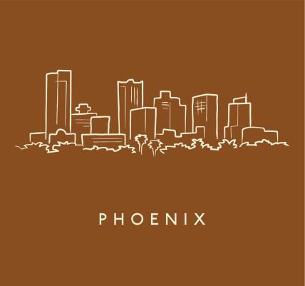Phoenix Skyline Sketch