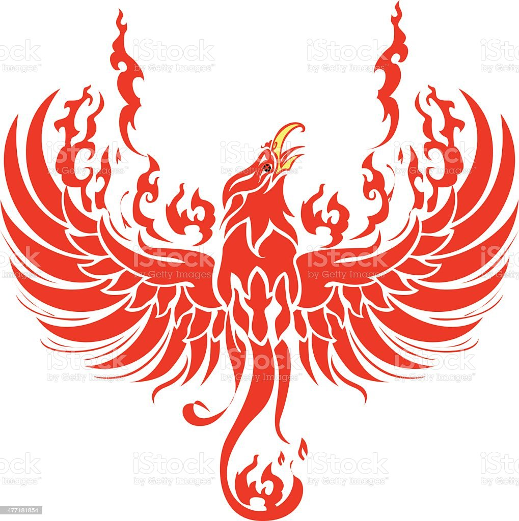 Phoenix Vector Fire Stock Illustration