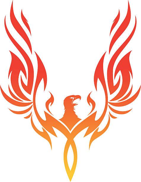 De Phoenix - ilustración de arte vectorial