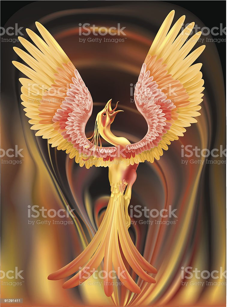 phoenix vector art illustration