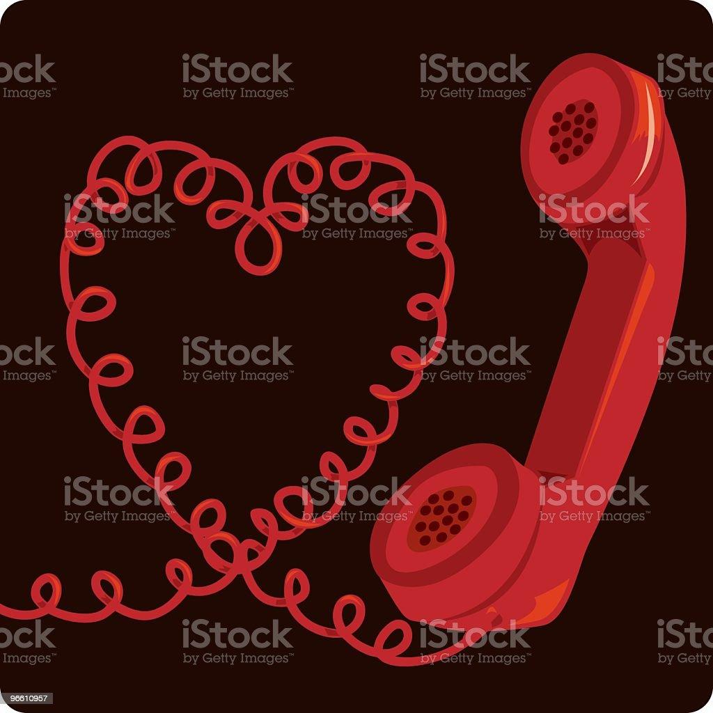 Telefon & Kabel - Lizenzfrei Farbbild Vektorgrafik