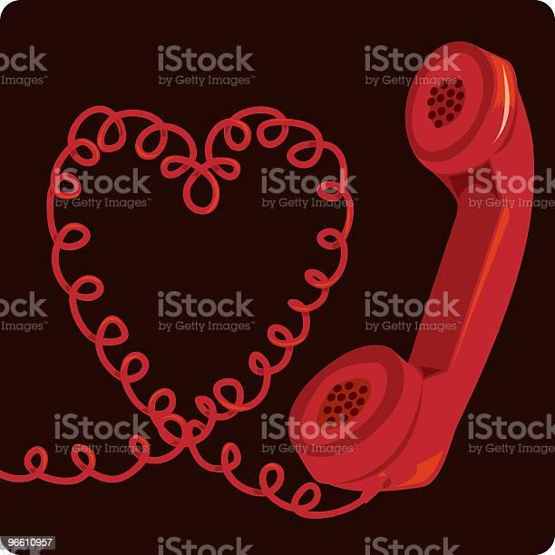 Telefon Kabel Stock Vektor Art und mehr Bilder von Farbbild