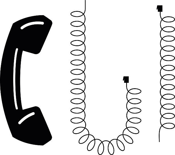 Royalty Free Telephone Cable Clip Art, Vector Images