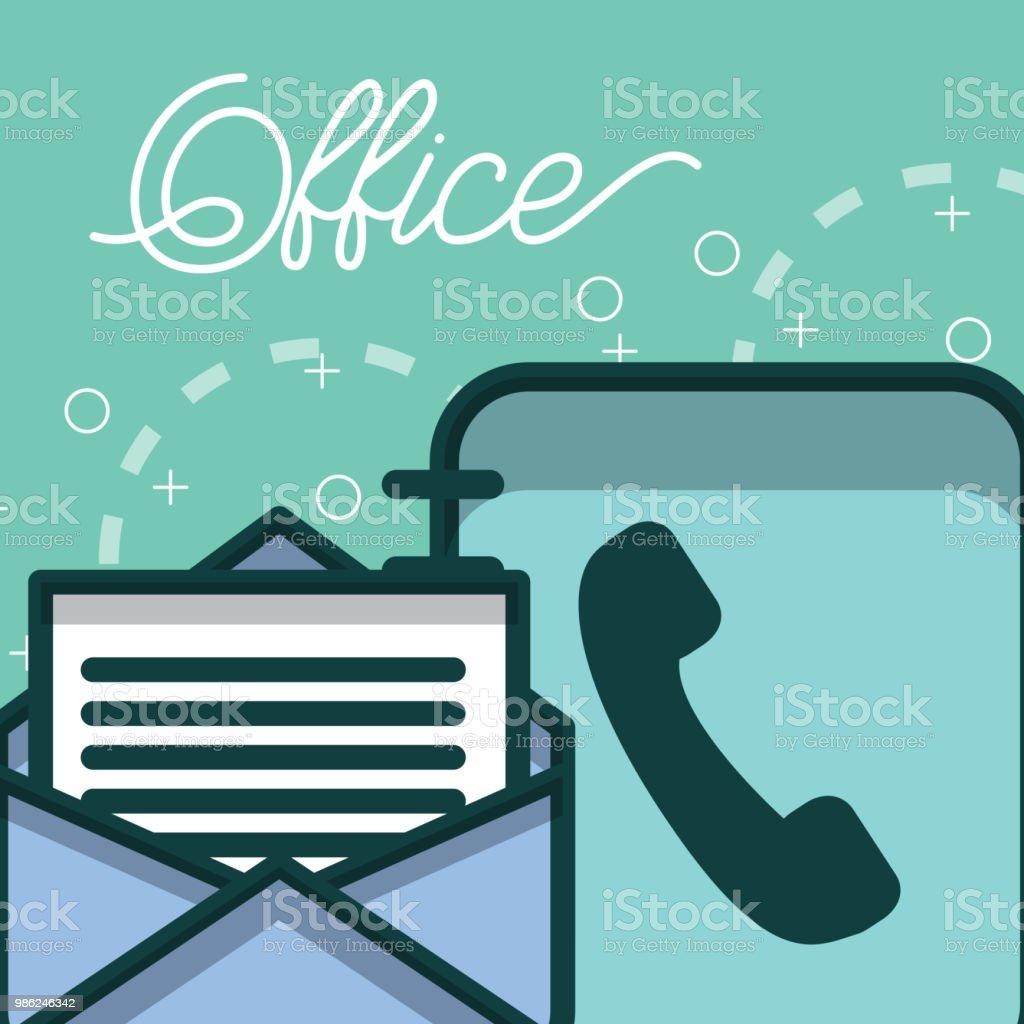 821de3419 livro de telefone e e-mail escritório de papel de carta vetor de livro de