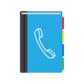 istock Phone book flat icon. Contact list. Vector illustration 1257256999