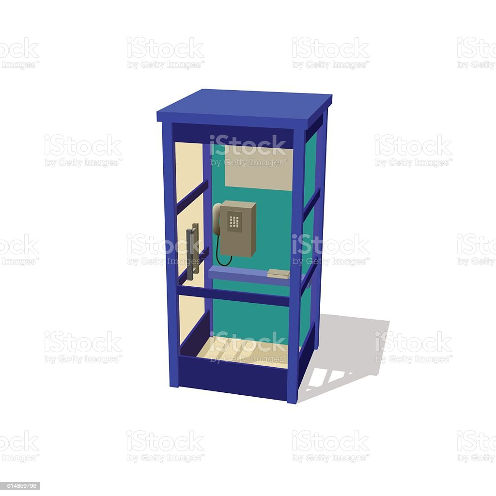 Phone booth. Isolated on white background. Vector illustration. vector art illustration