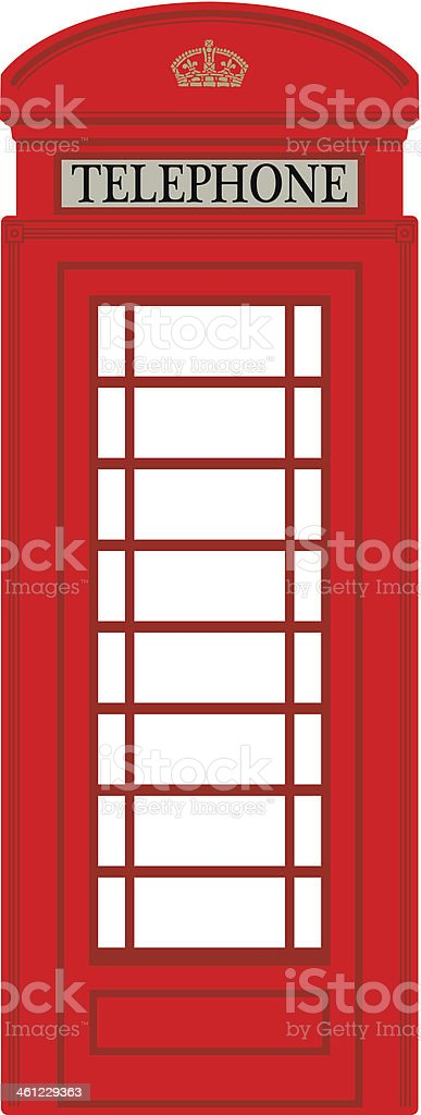 Phone booth vector art illustration