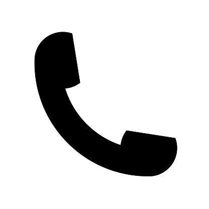 Phone call auricular symbol in black icon vector icon. Simple element illustration. Phone call auricular symbol in black symbol design. Can be used for web and mobile.