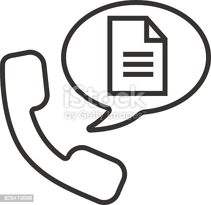 Phone Call For Instructions Icon Stock Vector Art More Images Of