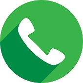 Phone Call Icon Silhouette