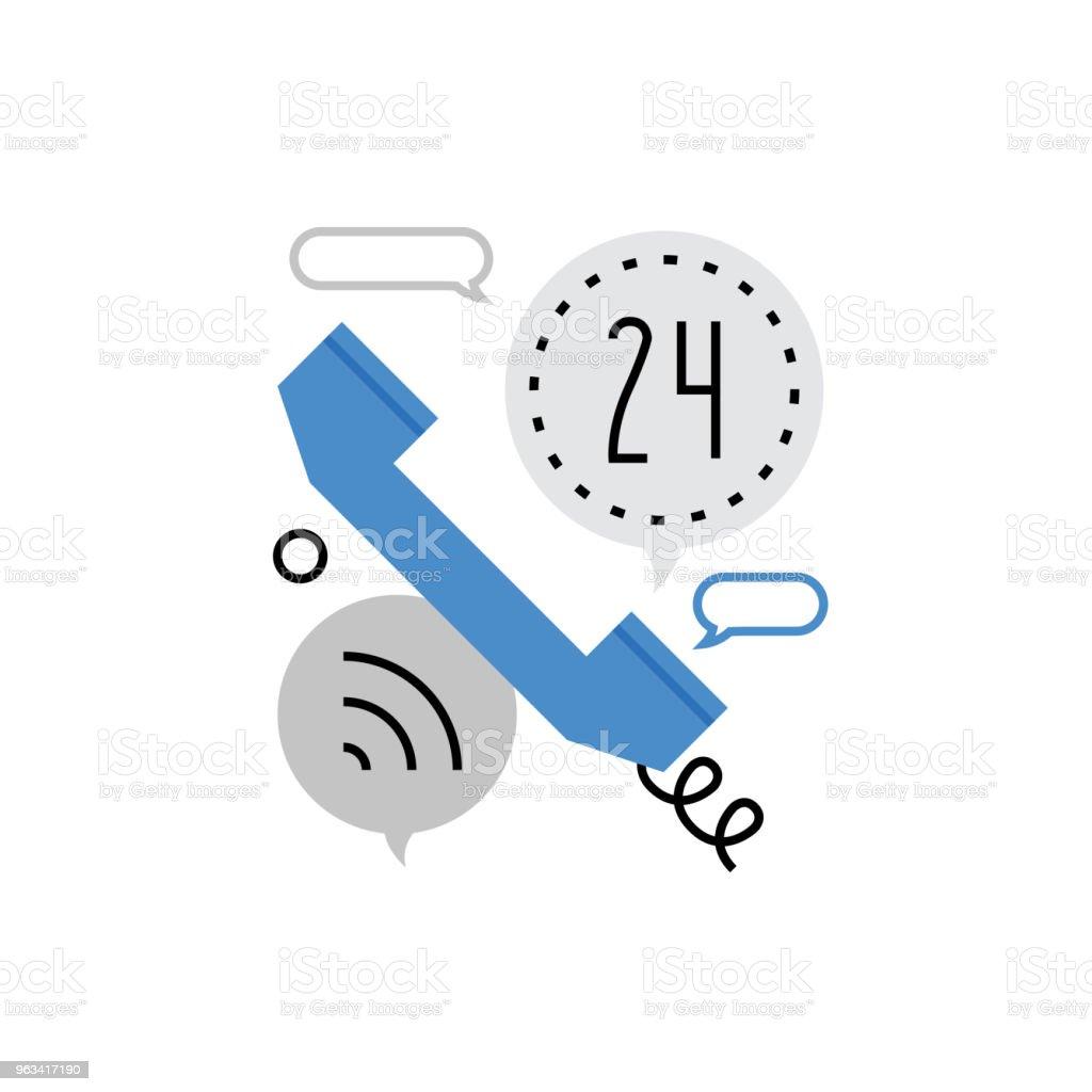 Phone Call Monoflat Icon - Grafika wektorowa royalty-free (24 Hrs - Angielski zwrot)