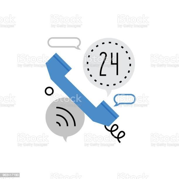 Ikona Monoflat Połączenia Telefonicznego - Stockowe grafiki wektorowe i więcej obrazów Słuchawka telefoniczna