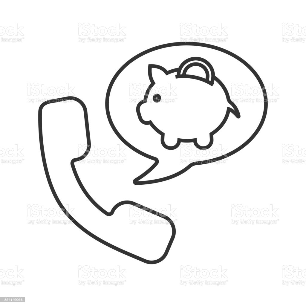 Phone call to bank icon royalty-free phone call to bank icon stock vector art & more images of bank