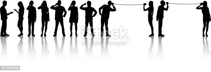 People making phone calls.