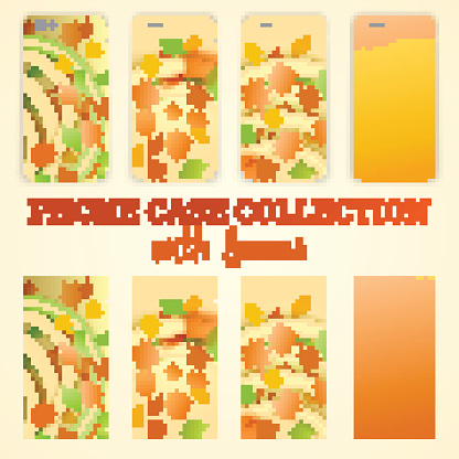 phone case with autumn leaves