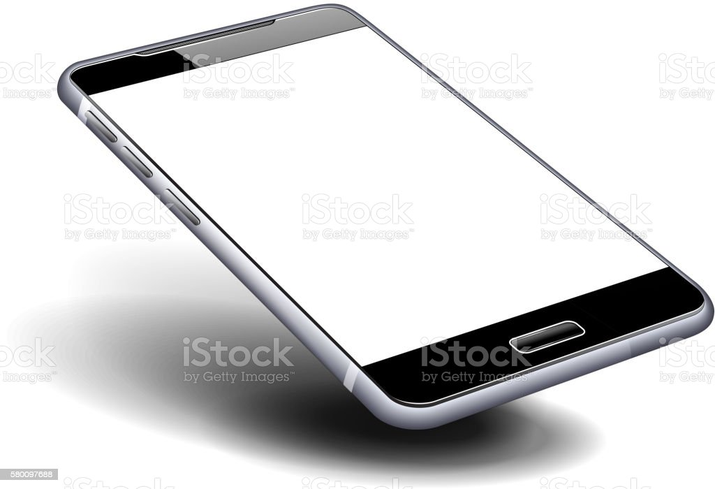 Phone Cell Smart Mobile with blank screen vector art illustration