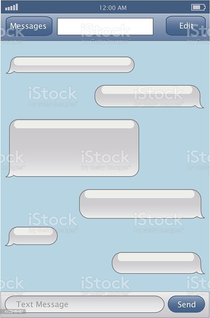 Phone Chat Template Stock Vector Art & More Images of Backgrounds ...