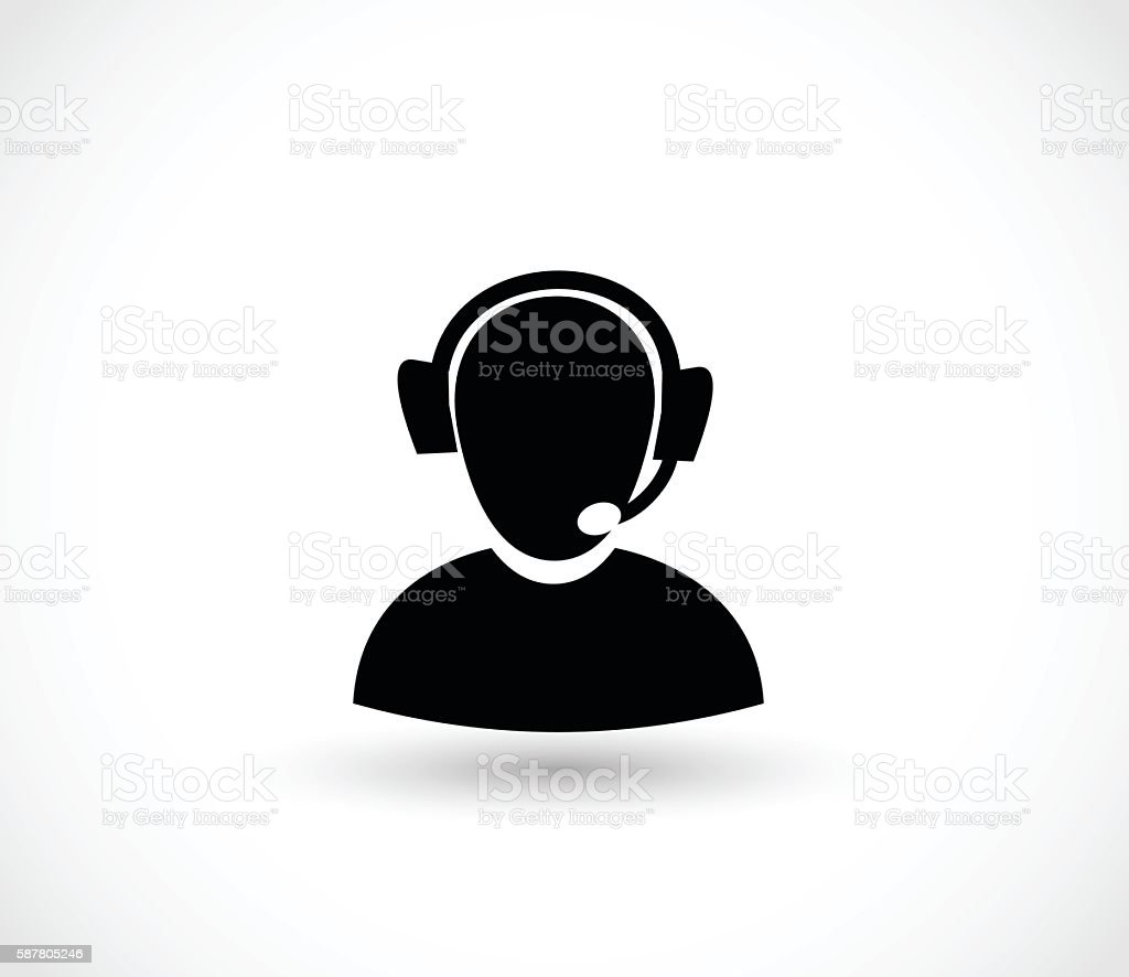 Phone customer service icon vector  illustration vector art illustration