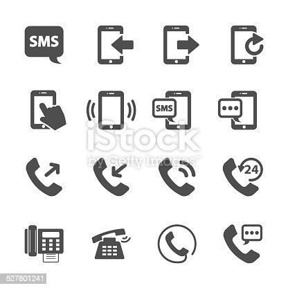 phone device communication icon set, vector eps10..