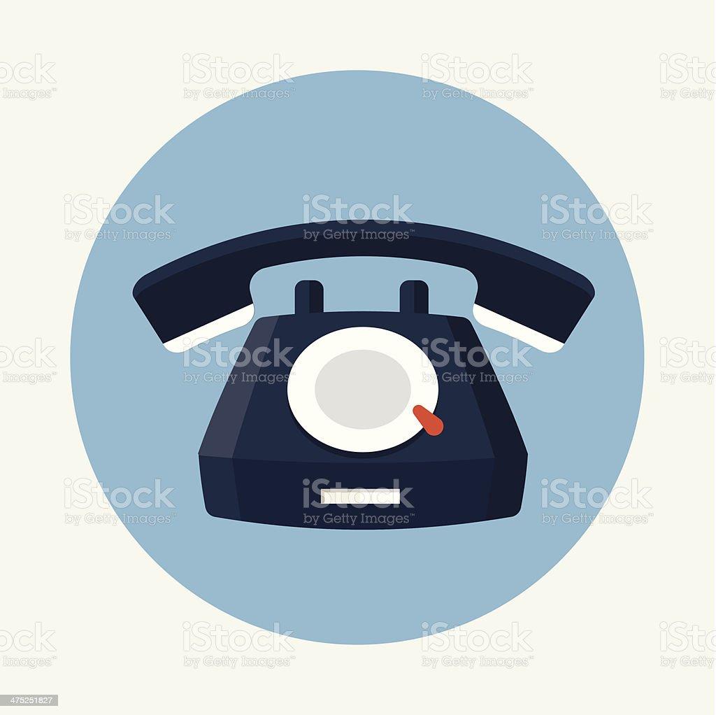 Phone flat icon vector art illustration