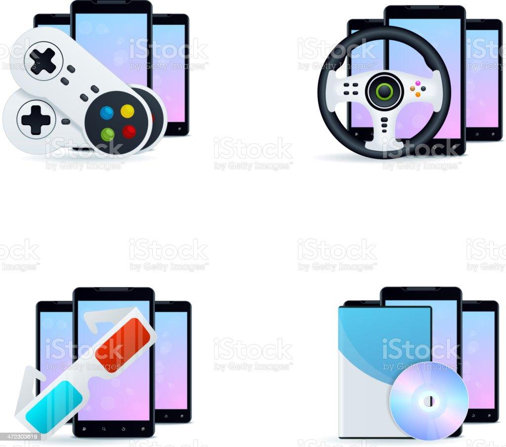 Phone Gaming royalty-free stock vector art