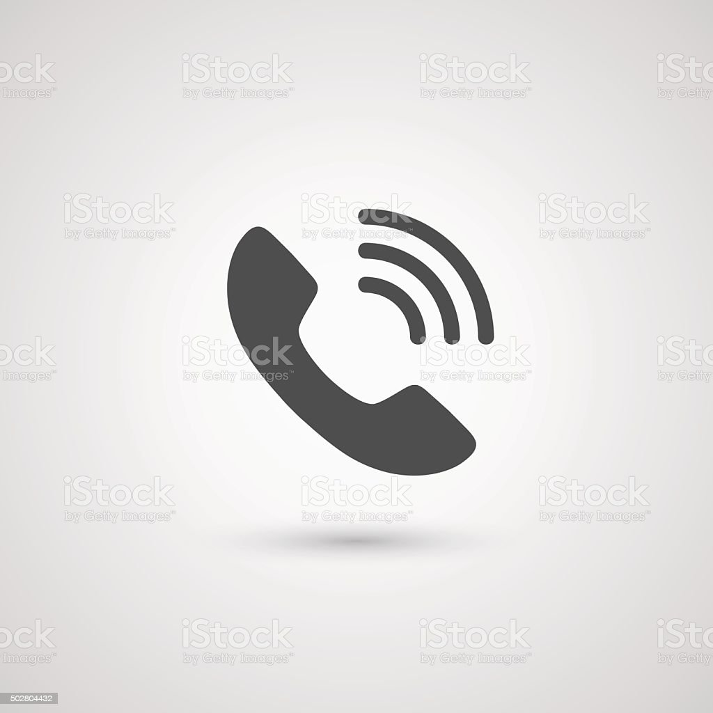 Phone handset icon vector art illustration