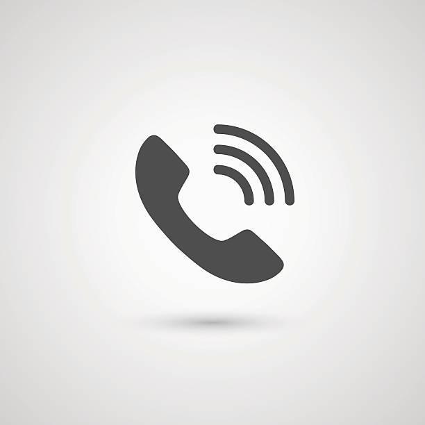 ilustraciones, imágenes clip art, dibujos animados e iconos de stock de icono para auricular de teléfono - phone