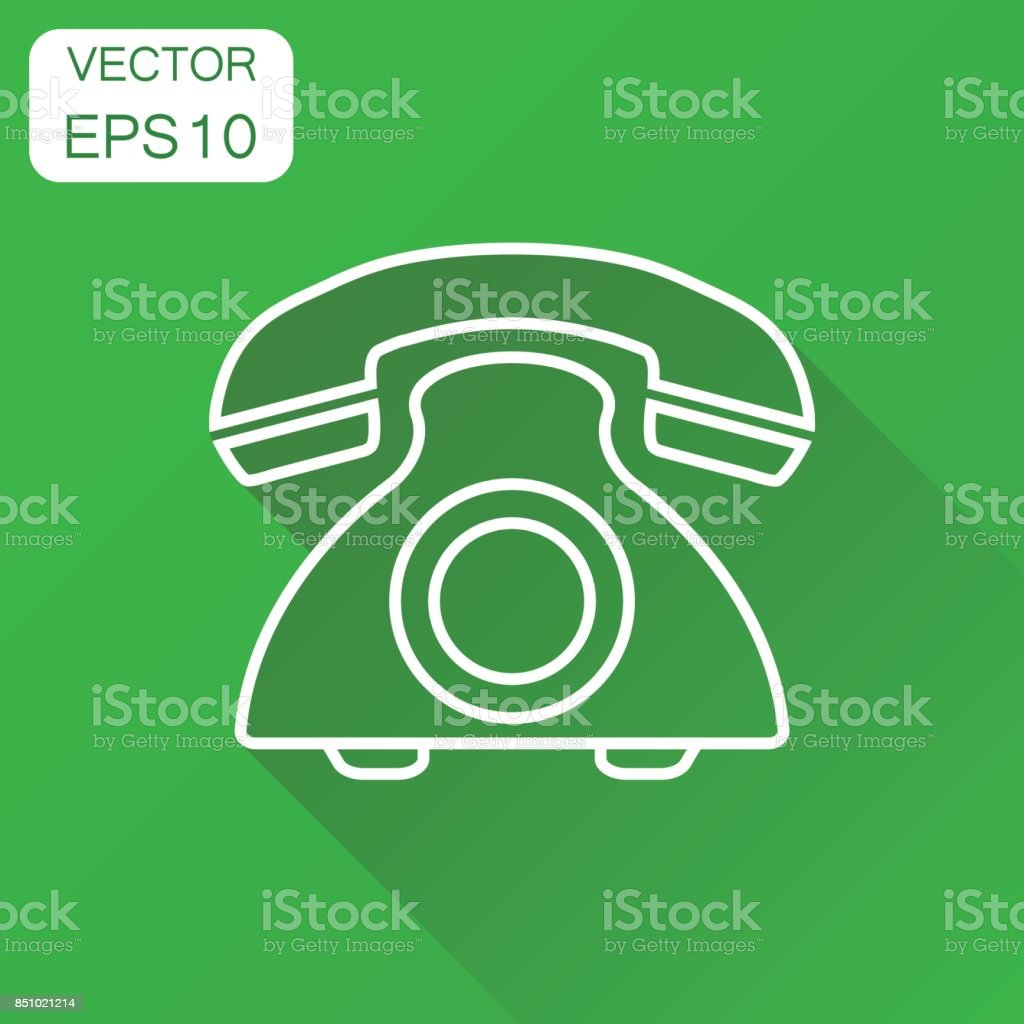 Phone Icon Business Concept Old Vintage Telephone In Line