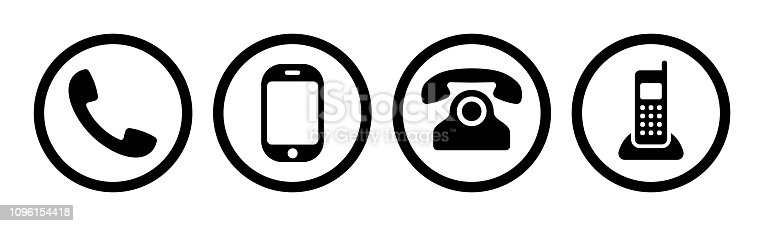 Phone icon collection. Cell sign. Vector illustration