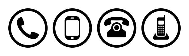 Phone icon collection. Call sign. Vector Phone icon collection. Cell sign. Vector illustration phone stock illustrations