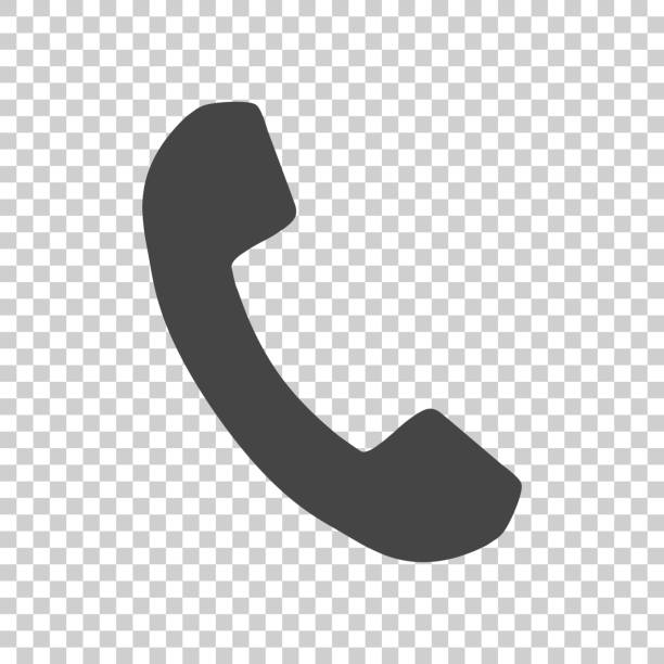 Phone icon in flat style. Vector illustration on isolated background. vector art illustration