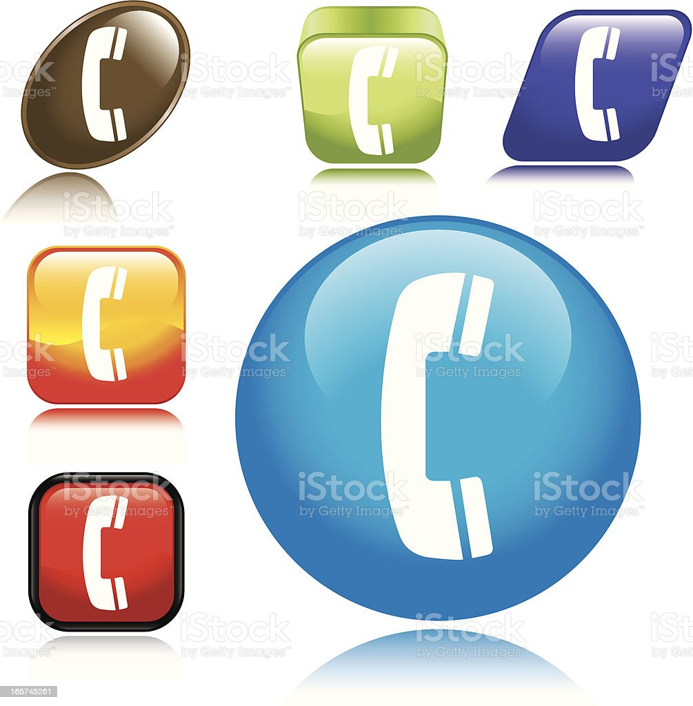 Phone Icon royalty-free phone icon stock vector art & more images of blue