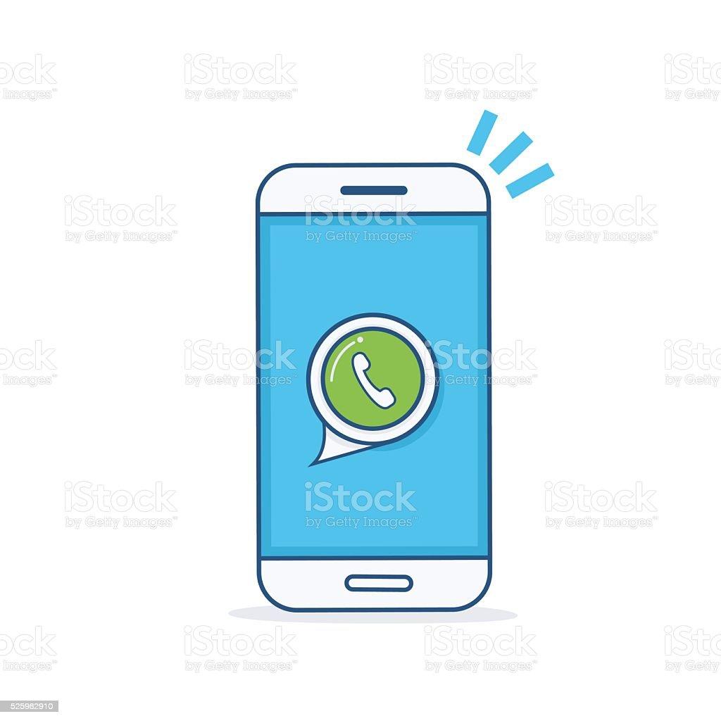 Phone icon. vector art illustration