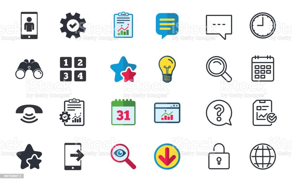 Phone Icons Call Center Support Symbol Stock Vector Art More