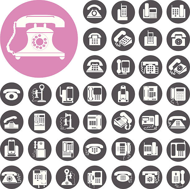 Telefon-icons set.  Illustration eps10 – Vektorgrafik