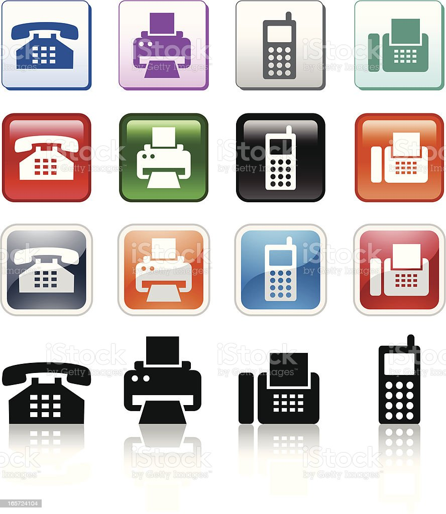 phone icons stock vector art amp more images of business