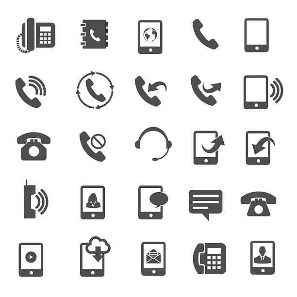telefon-icons - symbole stock-grafiken, -clipart, -cartoons und -symbole