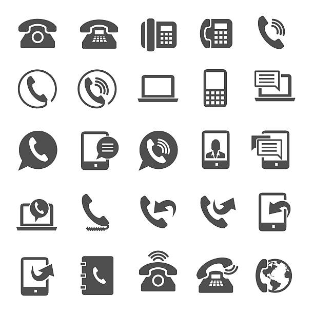 Phone icons Phone icons dial stock illustrations