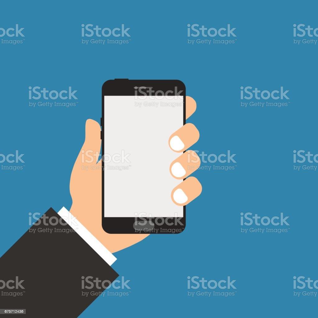 Phone in hand 免版稅 phone in hand 向量插圖及更多 互聯網 圖片