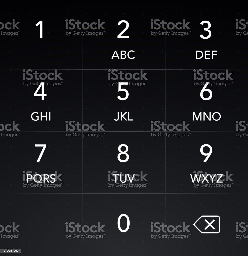 Phone Keyboard HUD Interface vector art illustration