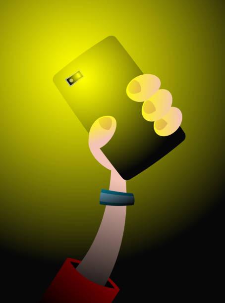 Phone light vector art illustration