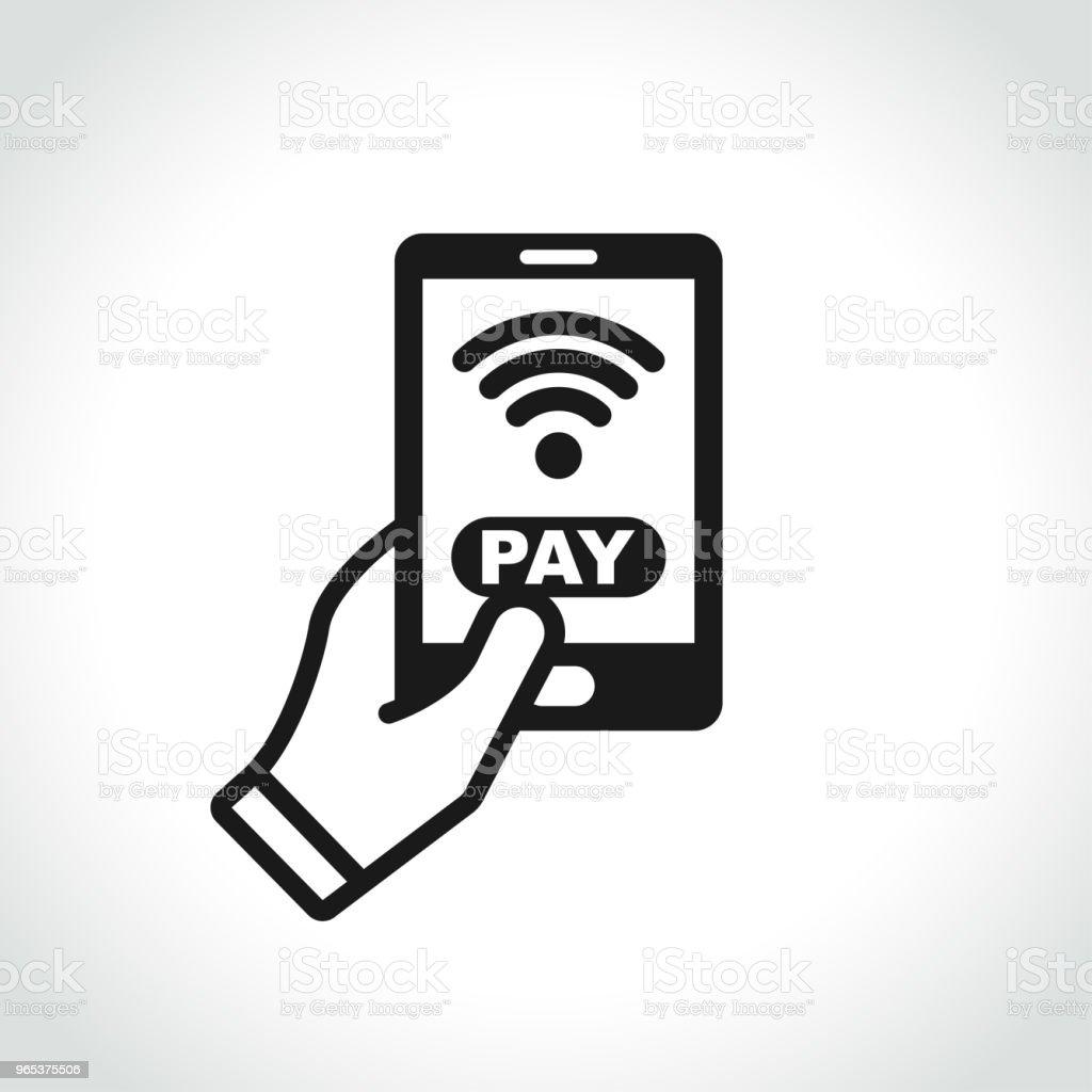 icône de paiement du téléphone sur fond blanc - clipart vectoriel de Acheter libre de droits