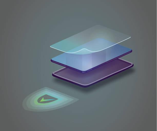 Telefon skydd vektorkonstillustration
