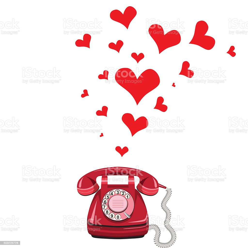 Phone receiver and heart