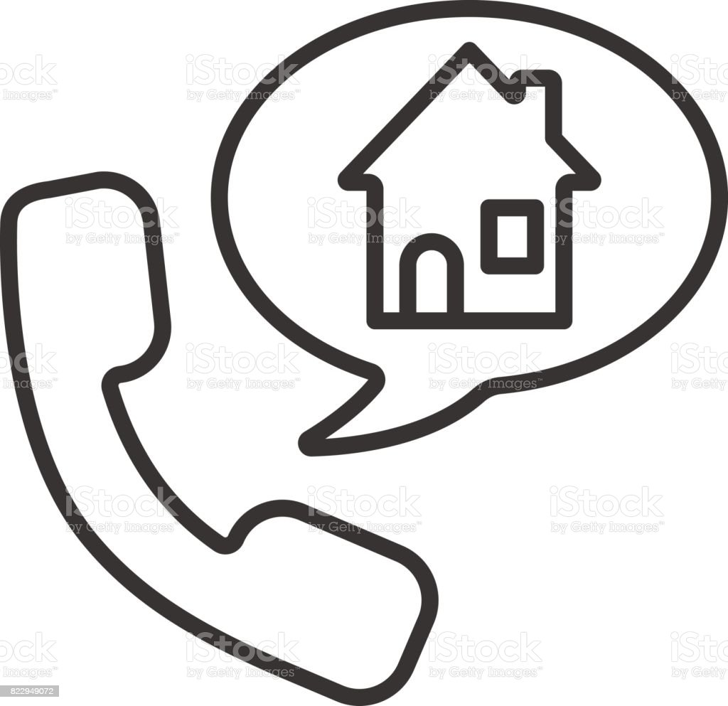 Phone Rental House Reserve Icon Stock Vector Art More Images Of